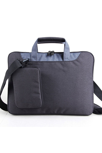 "KB 15.4"" LADIES IN FASHION SRS,LPTP SHOUL BAG-BLCK"