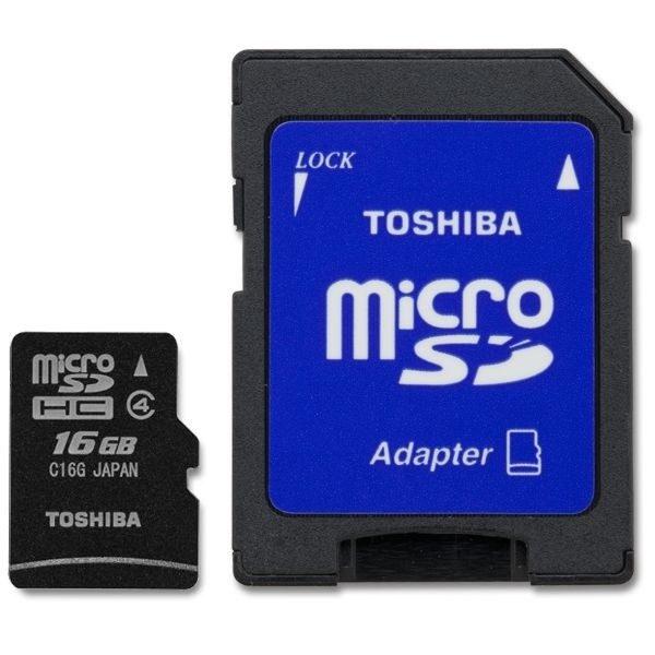 Toshiba 16GB - Micro SD - Class 4 W/O Adapter