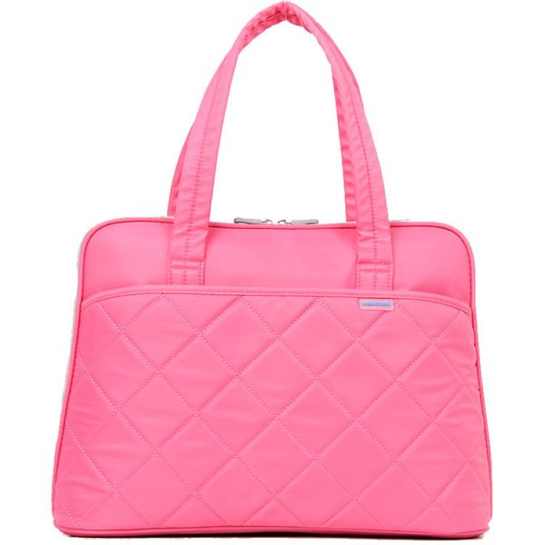 "KB 15.4"" LADIES IN FASHION SRS,LPTP SHOUL BAG-PINK"