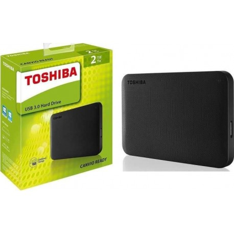 Toshiba External 2TB Canvio Ready HDD - Black Color